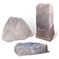 plastic decorative landscape stones polylok