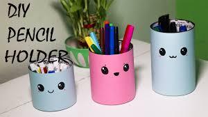 Desk Pencil Holder Diy Pencil Holder Diy Desk Organizer Youtube