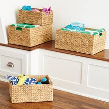 Decoration Storage Containers Decorative Storage Bins The Container Store