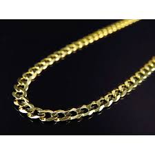 gold solid necklace images Jewelry unlimited 10k yellow gold solid plain style cuban link jpeg