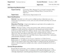 teller resume exle lead teller resume prettify co