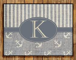 Monogrammed Rugs Outdoor by Anchor Door Mat Etsy