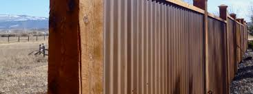 used corrugated metal as fencing fencing fort collins