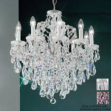Maria Theresa 6 Light Crystal Chandelier Shop Classic Lighting Maria Theresa 10 Light Chrome Crystal