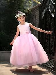 Wedding Dresses For Girls Sleeveless Kids Dress Wedding Dress Long Puffy Dress For Girls