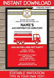 fire truck birthday invitations u2013 gangcraft net