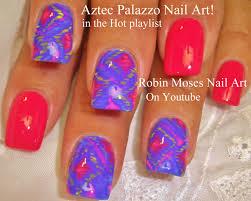 robin moses nail art neon summer ombre splatter paint nail design
