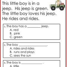 reading comprehension worksheets kindergarten worksheets