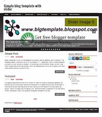 simple optimal blog template without slider free blogger templates