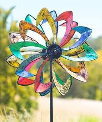 Garden Spinners And Decor Butterfly Peony Flower Colourful Wind Spinner Windmill Home Garden