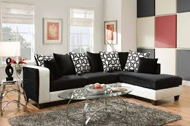 White Sectional Sofa Black And White Implosion Sectional Sofa By Delta Savvy Discount