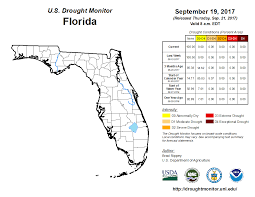 Map Of Florida With Cities Latest Drought Information