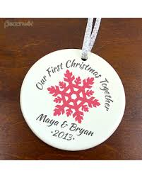 amazing deal on our together ornament snowflake