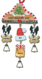 boston terrier personalized ornament
