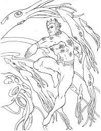 aquaman fight with giant squid coloring pages batch coloring