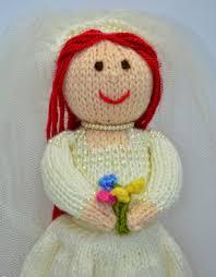 Wedding Gift Knitting Patterns Bride Toy Knitting Pattern Bride Doll Knit Doll Doll Knitting