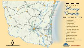 Myrtle Beach Map Historic Horry County
