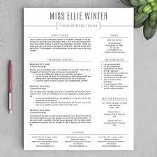 free teacher resume templates word education resume template word templates teachers gfyork printable