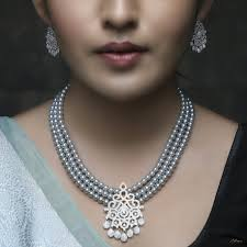 necklace set image images Midnight beauty pearl necklace set buy necklace sets online jpg