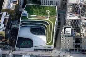 designboom green school chartier dalix s parisian primary school encourages biodiversity
