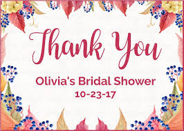 bridal shower favor tags personalized thank you favor tags for fall bridal shower falling
