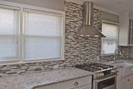 grey kitchen backsplash home decoration ideas deluxe black grey beige glass tile kitchen backsplash feature big kitchen stove and chrome iron chimney