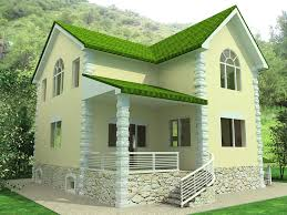 tiny house design ideas The dominant color green paint including