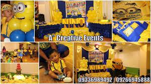 Minion Birthday Decorations Athena Miel U0027s Balloons Bubbles And Party Needs