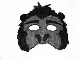 children u0027s jungle animal gorilla felt mask magical attic