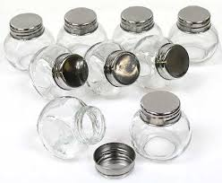 favor jars 2 glass favor jars with lids package of 9 favor boxes and