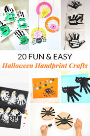 Halloween Witch Craft Ideas by 20 Fun U0026 Easy Halloween Handprint Crafts Mommy Moment