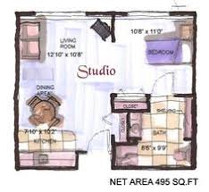 Nyc  Sqft Studio Apartment Layout Person Needs Very Little - Studio apartment layout design
