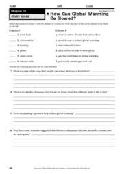 Global Warming Worksheet How Can Global Warming Be Slowed 9th 12th Grade Worksheet