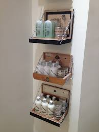 Wooden Box Shelves by Salon Eco Chic We Use Old Cigar Boxes For Our Hairstyling Products