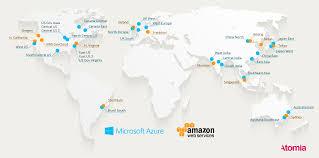 Ces Map Amazon Web Services Vs Azure La Carte Des Data Centers De Ces 2