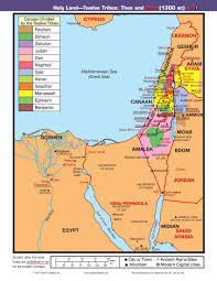 Beirut On Map Map Land Of 12 Tribes Then And Now Reading The Bible