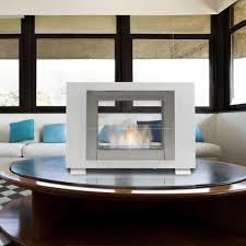 eco feu wellington 2 sided freestanding biofuel fireplace