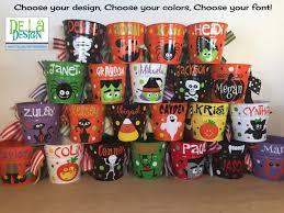 plastic halloween bags personalized halloween trick or treat metal bucket 2 quart