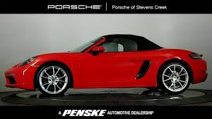 red porsche boxster 2017 2017 new porsche 718 boxster roadster at porsche of stevens creek