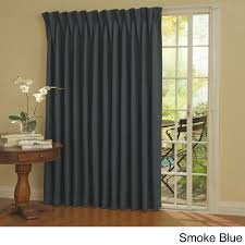 eclipse thermal blackout patio door curtain panel storm blue