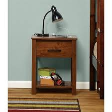 nightstand l with usb port mainstays ethan night stand with usb port multiple colors walmart com