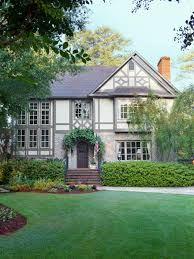 stealable curb appeal ideas from tudor revivals gray trim grey