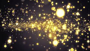lights gold bokeh background stock footage 33104557