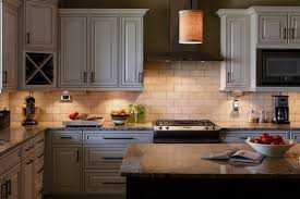 Thomasville Kitchen Cabinets Review Furniture White Thomasville Cabinets With White Faux Brick Back