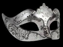 stella masquerade masks silver white