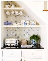 French Blue And White Ceramic Tile Backsplash Delft Tile In Kitchens