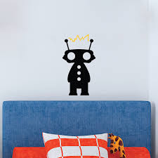 cute robo bot wall quotes wall art decal wallquotes com robot with electricity connecting antennas