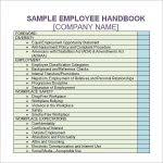 employment handbook template for word with regard to company