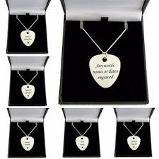 Engraved Guitar Pick Necklace Personalised Plectrum Necklace Engraved Guitar Pick On Sterling