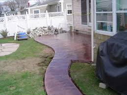 Backyard Concrete Patio by Artistic Stamped Concrete Of Rhode Island Atios Stamped Concrete